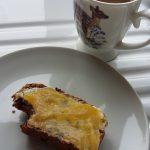 Photo of fruity tea loaf and lemon curd